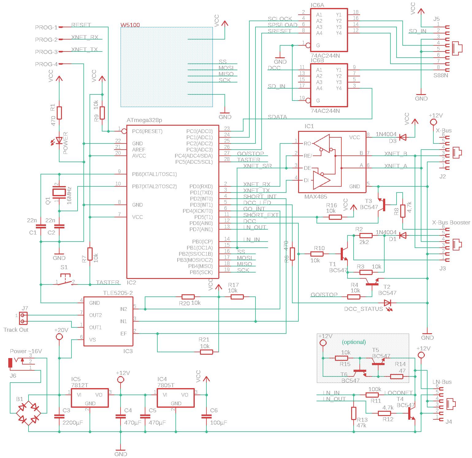 Roconet/XPressnet(+ ggf. Loconet)-Adapter für Märklin CAN-Bus (CS2/3 ...